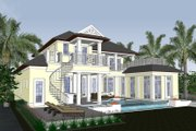Mediterranean Style House Plan - 4 Beds 5.5 Baths 4450 Sq/Ft Plan #548-17 Exterior - Rear Elevation