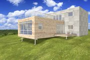 Modern Style House Plan - 2 Beds 2 Baths 2198 Sq/Ft Plan #497-28 Exterior - Front Elevation