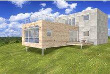 Dream House Plan - Modern, Front elevation