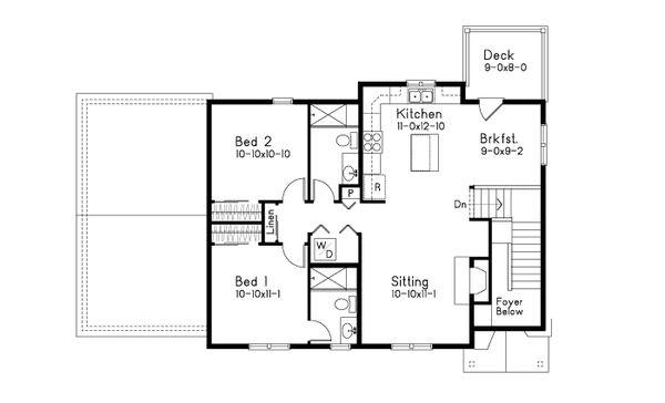 Dream House Plan - Craftsman Floor Plan - Upper Floor Plan #22-627