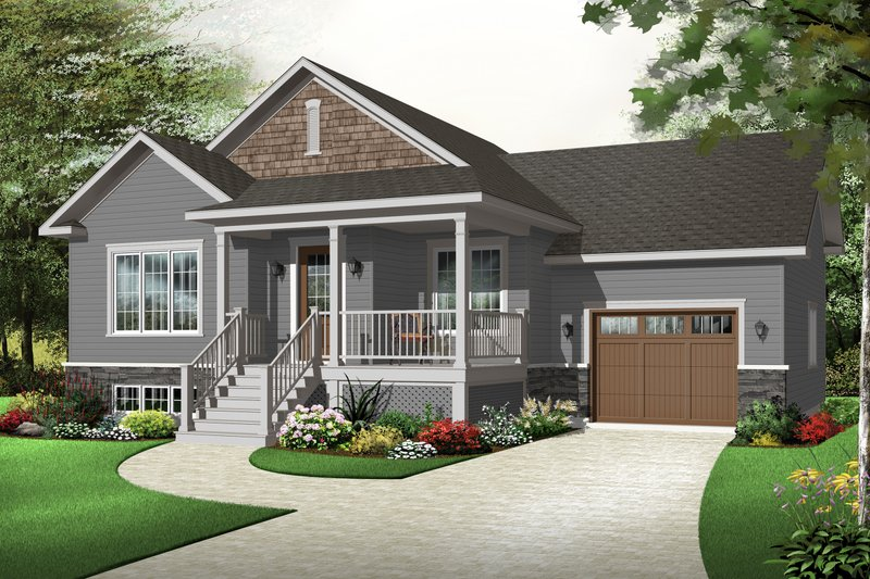 Country Exterior - Front Elevation Plan #23-2382