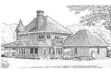 Dream House Plan - Victorian Exterior - Rear Elevation Plan #410-111