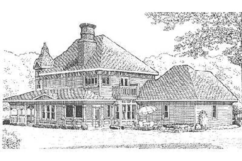 Victorian Exterior - Rear Elevation Plan #410-111 - Houseplans.com