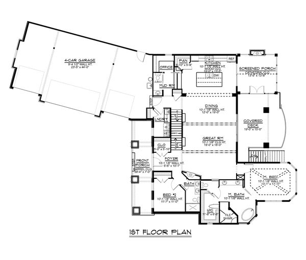 Architectural House Design - Ranch Floor Plan - Main Floor Plan #1064-89