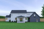 Farmhouse Style House Plan - 3 Beds 2.5 Baths 1974 Sq/Ft Plan #1070-34 Exterior - Rear Elevation