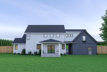 Dream House Plan - Farmhouse Exterior - Rear Elevation Plan #1070-34