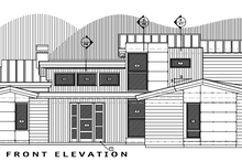 House Plan Design - Contemporary Exterior - Front Elevation Plan #892-10