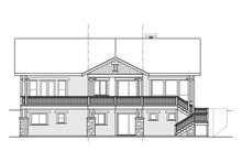 Craftsman Exterior - Rear Elevation Plan #124-913