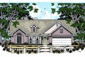 Country Exterior - Front Elevation Plan #42-353