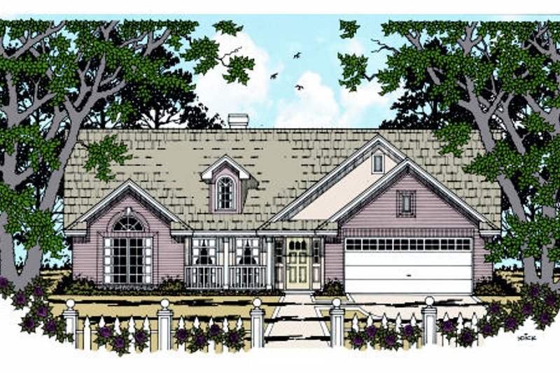 Country Exterior - Front Elevation Plan #42-353 - Houseplans.com
