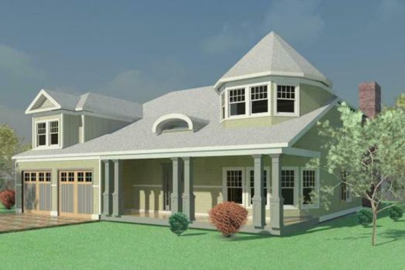 Traditional Style House Plan - 4 Beds 2.5 Baths 3696 Sq/Ft Plan #524-11 Exterior - Front Elevation