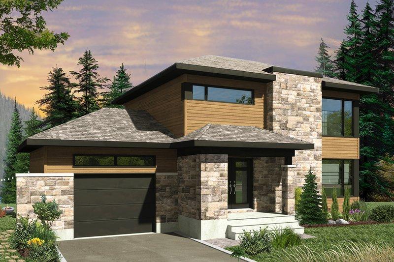 House Plan Design - Contemporary Exterior - Front Elevation Plan #23-2644