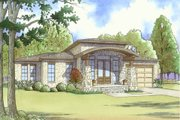 Modern Style House Plan - 4 Beds 3 Baths 2506 Sq/Ft Plan #17-2598 Exterior - Front Elevation