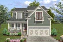 Dream House Plan - Craftsman Exterior - Front Elevation Plan #56-554