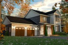 Architectural House Design - Craftsman Exterior - Front Elevation Plan #23-2724