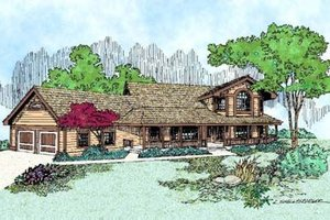 Country Exterior - Front Elevation Plan #60-401