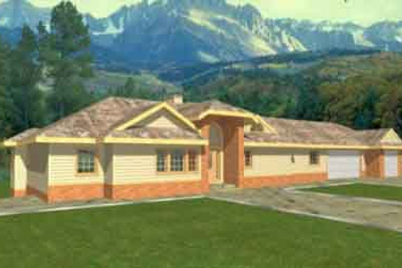 Dream House Plan - Traditional Exterior - Front Elevation Plan #117-241
