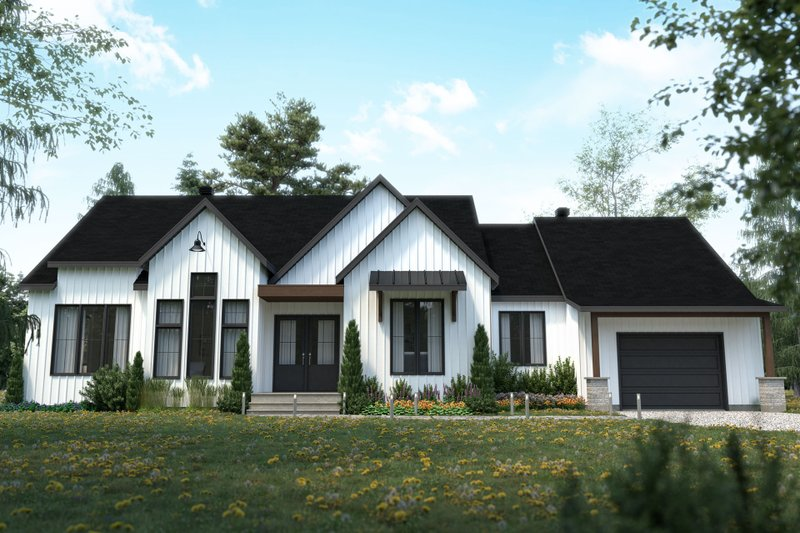 House Plan Design - Craftsman Exterior - Front Elevation Plan #23-2745