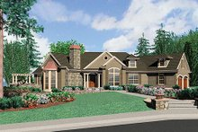 Traditional Exterior - Front Elevation Plan #48-424