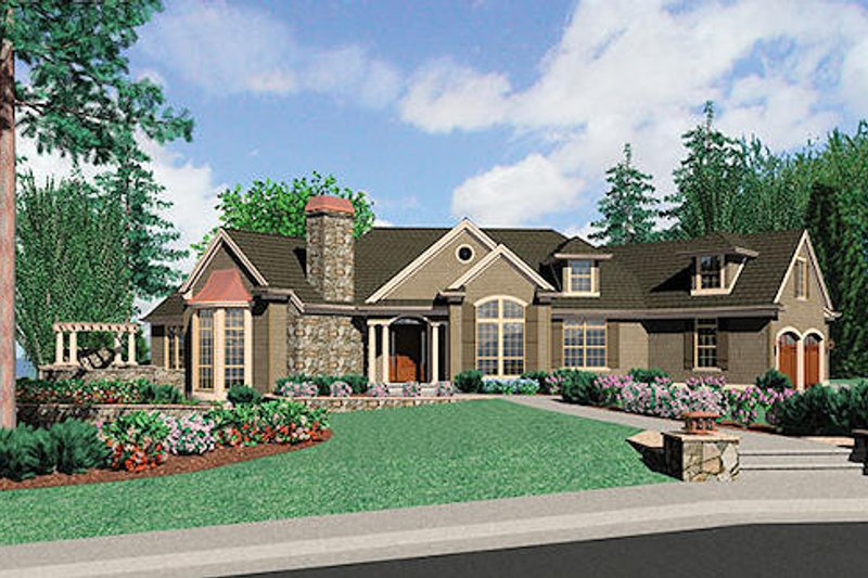 Traditional Style House Plan - 4 Beds 4.5 Baths 2973 Sq/Ft Plan #48-424