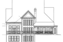 Colonial Exterior - Rear Elevation Plan #119-156