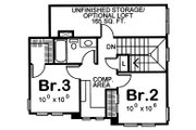 Craftsman Style House Plan - 3 Beds 2.5 Baths 1699 Sq/Ft Plan #20-2236 Floor Plan - Upper Floor