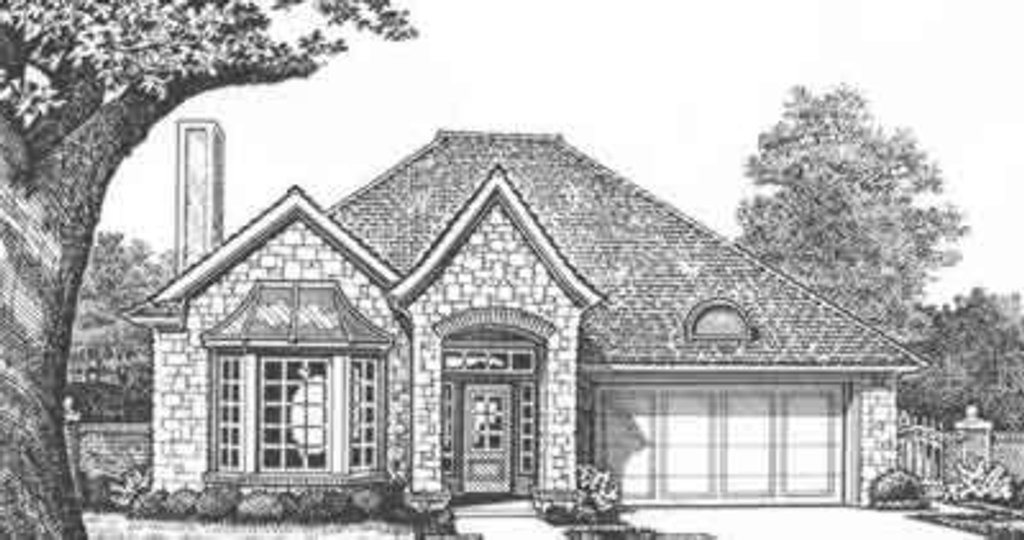 European Exterior - Front Elevation Plan #310-427