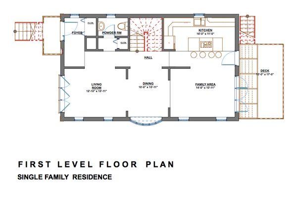 Modern Floor Plan - Main Floor Plan #535-2