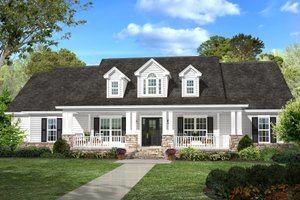 Country Exterior - Front Elevation Plan #430-113