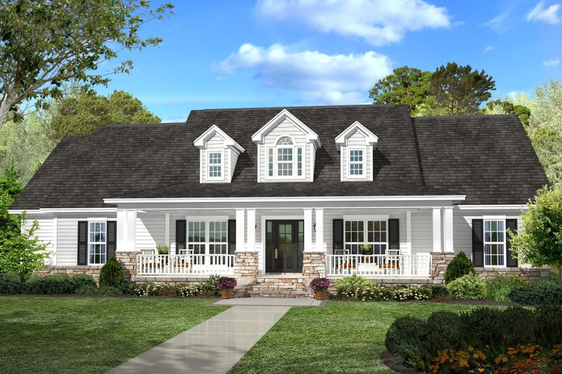 Dream House Plan - Country Exterior - Front Elevation Plan #430-113