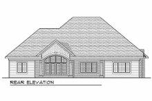 Home Plan - European Exterior - Rear Elevation Plan #70-634