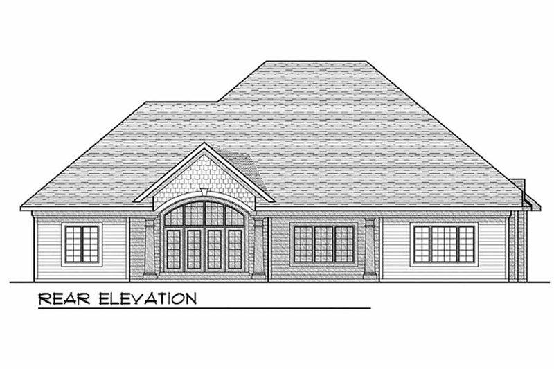 European Exterior - Rear Elevation Plan #70-634 - Houseplans.com