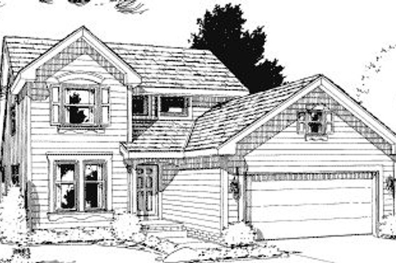 Traditional Exterior - Front Elevation Plan #20-581 - Houseplans.com