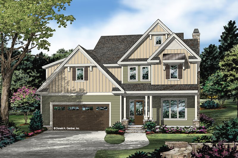 Home Plan - Farmhouse Exterior - Front Elevation Plan #929-1120