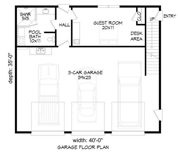House Plan Design - Contemporary Floor Plan - Main Floor Plan #932-342