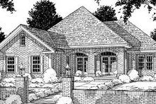 Traditional Exterior - Front Elevation Plan #20-176