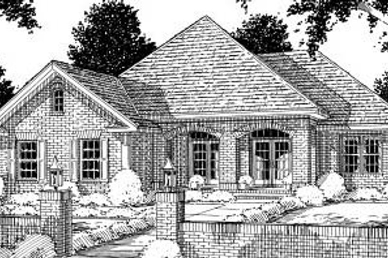 Traditional Exterior - Front Elevation Plan #20-176 - Houseplans.com