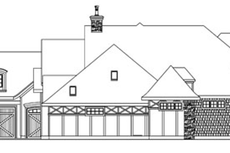 Tudor Exterior - Other Elevation Plan #124-748 - Houseplans.com