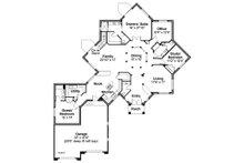 Ranch Floor Plan - Main Floor Plan Plan #124-864