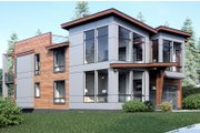 Modern Style House Plan - 4 Beds 3 Baths 3543 Sq/Ft Plan #1066-10 Exterior - Other Elevation