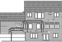 Craftsman Exterior - Rear Elevation Plan #320-494