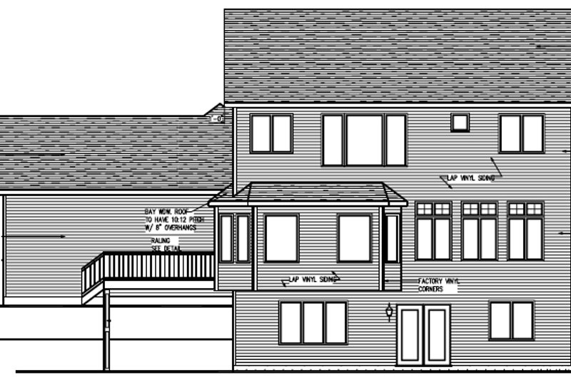 Craftsman Exterior - Rear Elevation Plan #320-494 - Houseplans.com