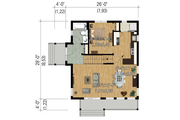 Modern Style House Plan - 2 Beds 2 Baths 1165 Sq/Ft Plan #25-4364 Floor Plan - Main Floor Plan