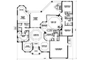 Mediterranean Style House Plan - 3 Beds 3 Baths 2784 Sq/Ft Plan #27-352 Floor Plan - Main Floor Plan