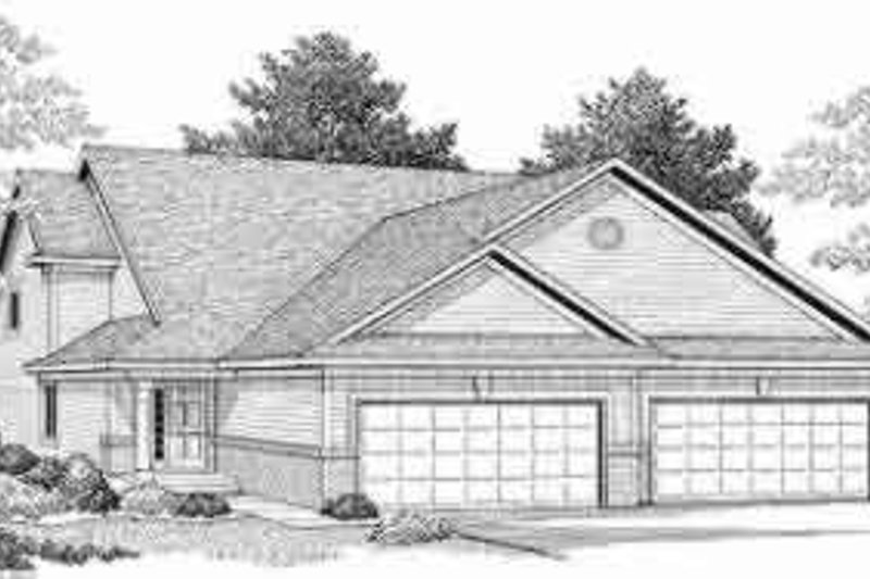 Traditional Exterior - Front Elevation Plan #70-711 - Houseplans.com