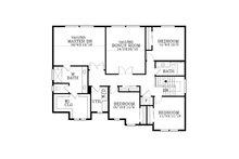 Craftsman Floor Plan - Upper Floor Plan Plan #53-610