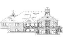 House Plan Design - European Exterior - Rear Elevation Plan #5-314