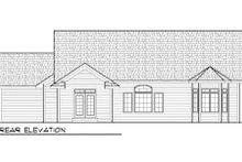 Bungalow Exterior - Rear Elevation Plan #70-977