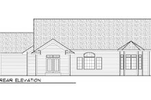 Home Plan - Bungalow Exterior - Rear Elevation Plan #70-977