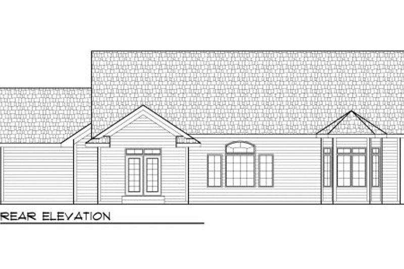 Bungalow Exterior - Rear Elevation Plan #70-977 - Houseplans.com